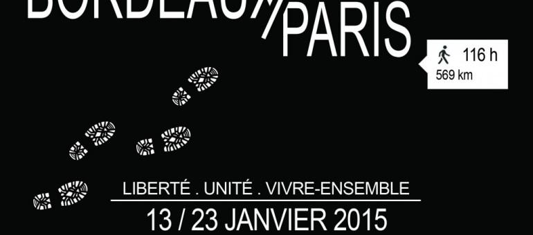 La marche des lycéens de Bordeaux à Paris pour la liberté et le vivre-ensemble