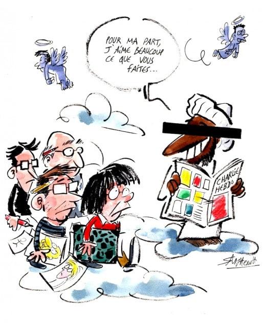 Hommage à Charlie Hebdo par Simon Mittteault