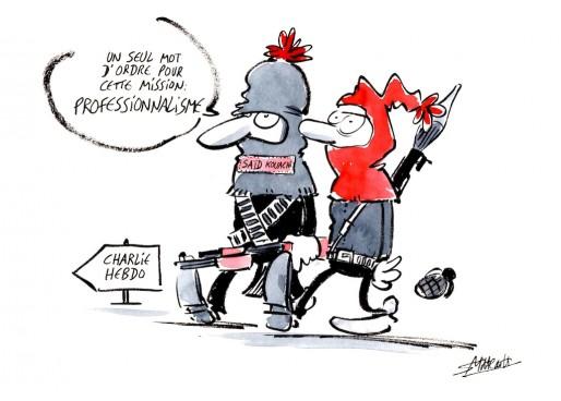 Hommage à Charlie Hebdo par Simon Mitteault
