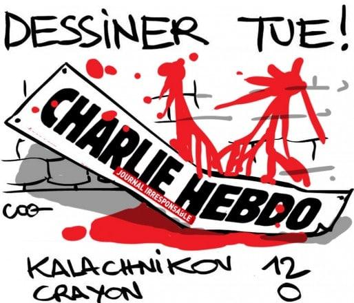 Hommage à Charlie Hebdo par Coq