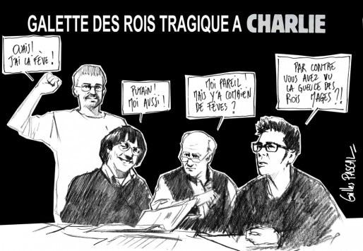 Hommage à Charlie Hebdo par un riverain Gilles Pascal