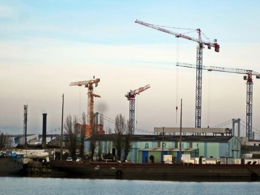 Les Bassins à flots, en plein chantier (AC/Rue89 Bordeaux)