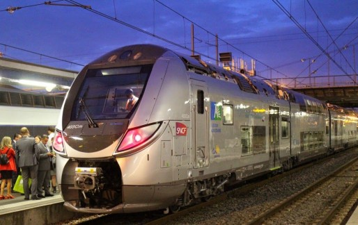 Le Regio2N lors de son voyage inaugural en Aquitaine en septembre 2014 (Photo Bombardier/DR)