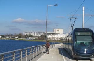 Le tramway franchit désormais la rocade pour rallier le stade et le Parc des expositions (SB/Rue89 Bordeaux)