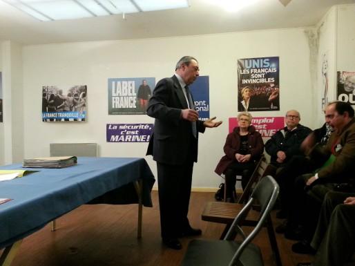 Jacques Colombier face à ses candidats pour les élections départementales de mars 2015 (Rue89Bordeaux)