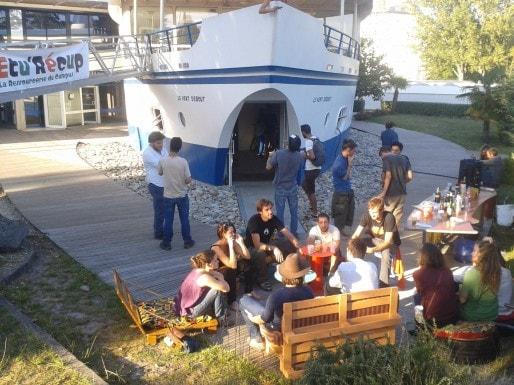 Sur le campus, la ressourcerie étudiante, une première en France.