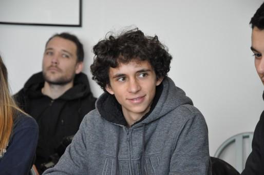 Robin, lycéen membre de la marche de la liberté. (Xavier Ridon / Rue89 Bordeaux)