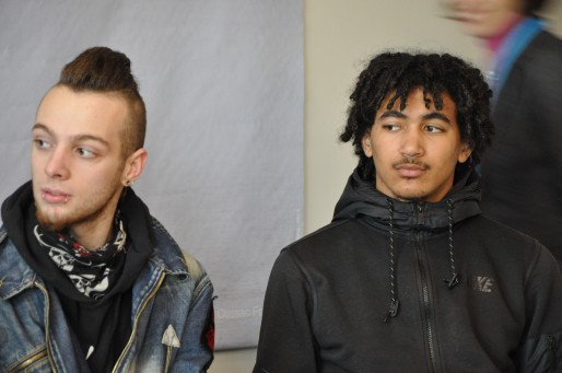 Anthony et Clément, marcheurs pour la liberté. (Xavier Ridon / Rue89 Bordeaux)