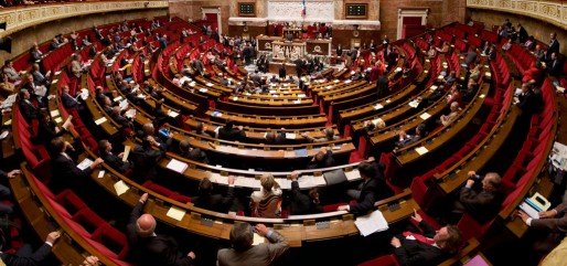 Panorama de l'hémicycle de l'assemblée nationale (photo Richard Ying et Tangui Morlier)