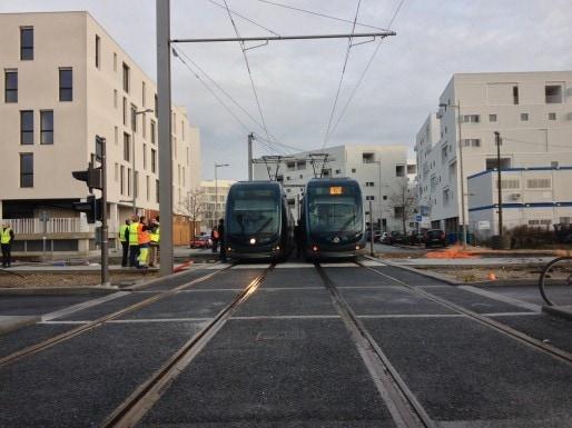 Les essais de la ligne C vers Bègles (photo mairie de Bègles)