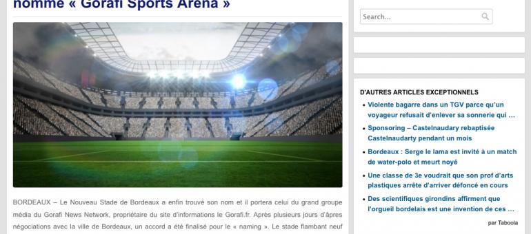 Le nouveau stade de Bordeaux portera le nom de…
