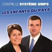 Affiche des candidats FN du Nord Médoc, Sonia Colemyn et Grégoire de Fournas (DR)