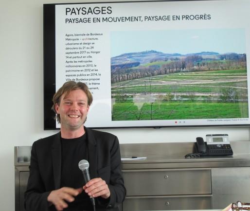 Le paysagiste, architecte et ingénieur Bas Smets, commissaire d'Agora 2017 (SB/Rue89 Bordeaux)