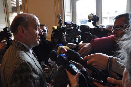 """Le maire de Bordeaux, Alain Juppé décrit Nicolas Sarkozy comme un """"formidable chef de guerre"""". (Xavier Ridon/Rue89 Bordeaux)"""