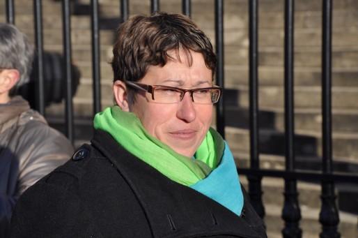 Marie-Lys Bibeyran devant le Tribunal de Bordeaux (Xavier Ridon/Rue89 Bordeaux)