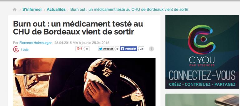 Burn-out : le succès d'un médicament testé à Bordeaux
