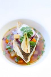 Le minestrone revisité et son émulsion coco qui ont fait gagné à Julia en 2012 un concours national de cuisine présidé par Joël Robuchon en personne.
