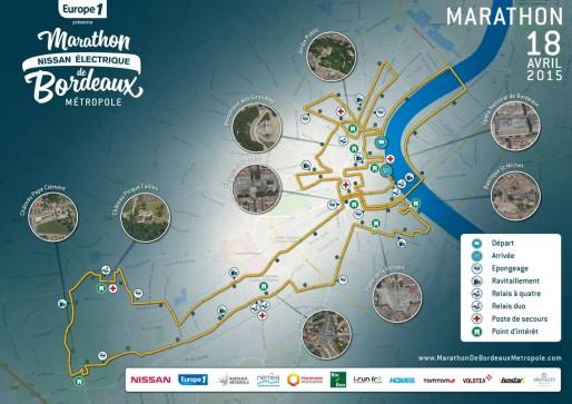 Le parcours du Marathon de Bordeaux Métropole sillonne le Port de la Lune avant de traverser Mérignac, Pessac et Talence.