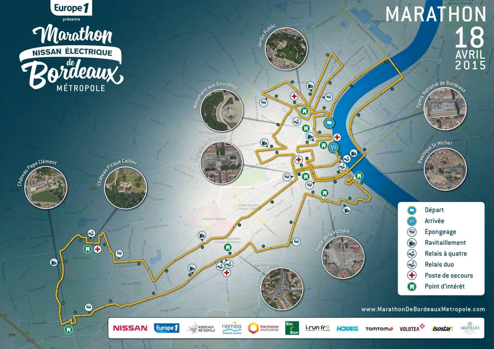 marathon de bordeaux parcours