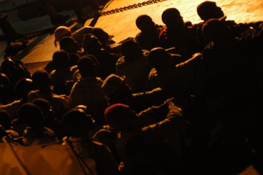Migrants arrivant à Lampedusa (Sara Prestianni - Noborder Network/flickr/CC)