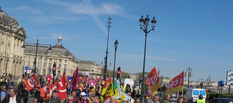 5000 manifestants contre l'austérité à Bordeaux
