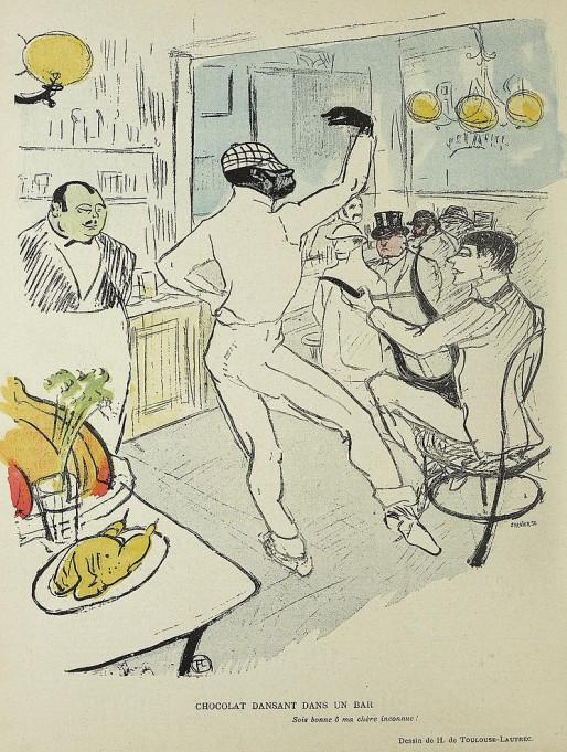 Caricature de Chocolat par Toulouse-Lautrec, 1896 (DP).