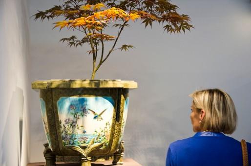 """Vue de l'exposition """"De David Johnston à Jules Vieillard - L'ivresse Darrigade"""" (photo Frédéric Deval, Musée des Arts décoratifs et du Design, Bordeaux)"""