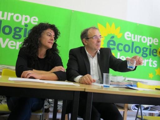 Christine Moebs et Gérard Chausset, élus écologistes de Saint-Médard et Mérignac (SB/Rue89 Bordeaux)