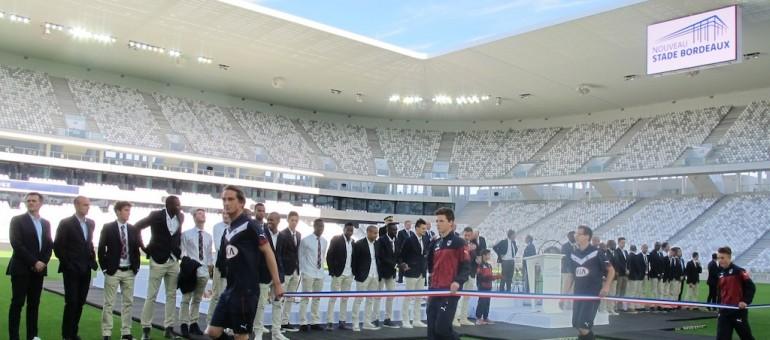 Le nouveau stade de Bordeaux pend la crémaillère