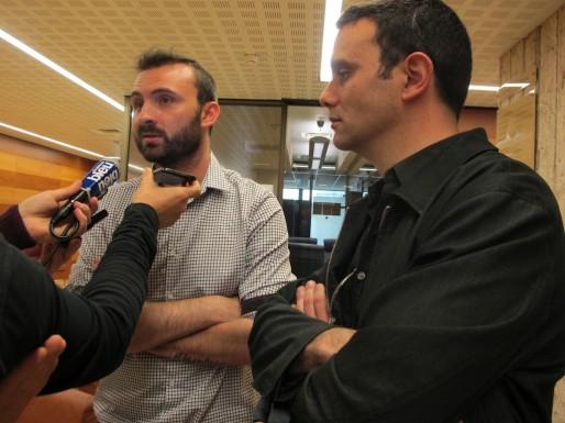 Laurent Perpigna et Florian Brunet, représentants des Ultramarines à la réunion à la préfecture (SB/Rue89 Bordeaux)