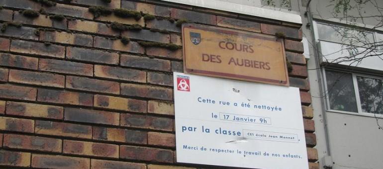 Le cours des Aubiers où «c'est courageux de venir» !