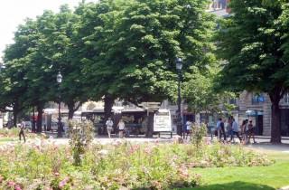 L'atout de la place Gambetta : son jardin datant du XIXe siècle. (ML/Rue89 Bordeaux)