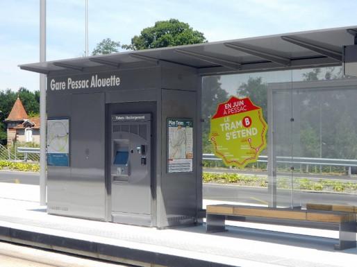 La gare Pessac Alouette permet de rallier le bassin d'Arcachon et la gare Saint-Jean. (ML/Rue89 Bordeaux)