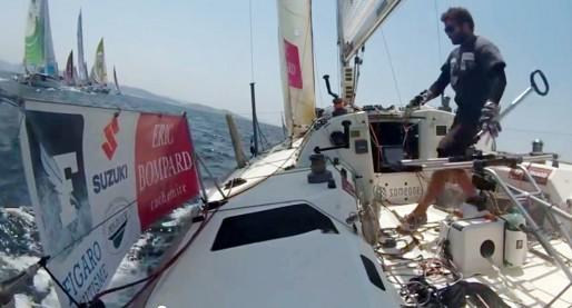 Clément Salzes au large de la Galice (image video)