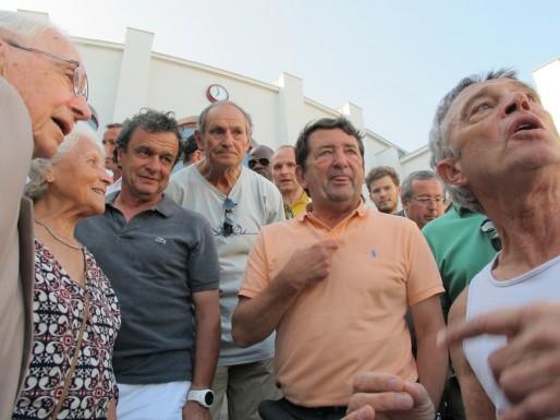 Harcelé de questions sur l'avenir du stade, Jean-Louis David a un peu tiré la langue (SB/Rue89 Bordeaux)