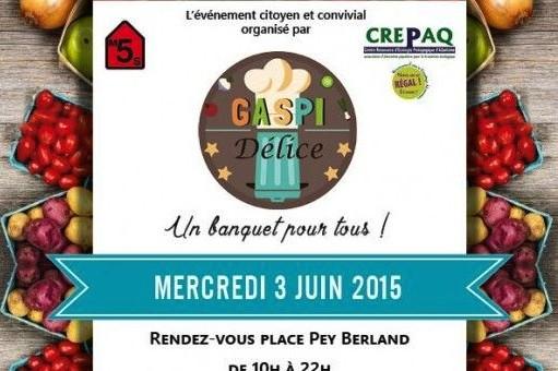 Un banquet anti-gaspi pour 8000 personnes à Bordeaux