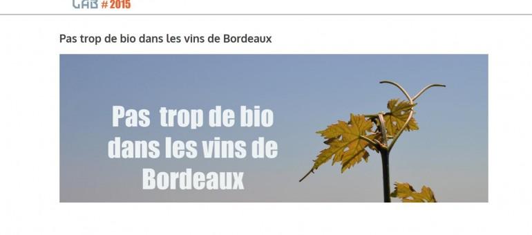 Le goût amer du vin bio dans le Bordelais