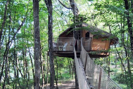 Une cabane perchée au domaine de la Romaningue (WS/Rue89 Bordeaux)