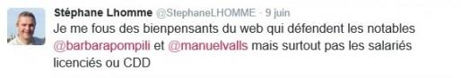 Pour se défendre, Stéphane Lhomme tente l'ironie (DR)