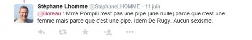 Pour Stéphane Lhomme, son message n'est pas sexiste (DR)