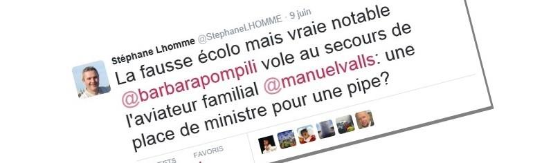 L'écolo Stéphane Lhomme sexiste au nom d'une pipe ?