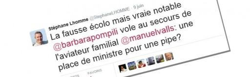 Tweet de Stéphane Lhomme (DR)