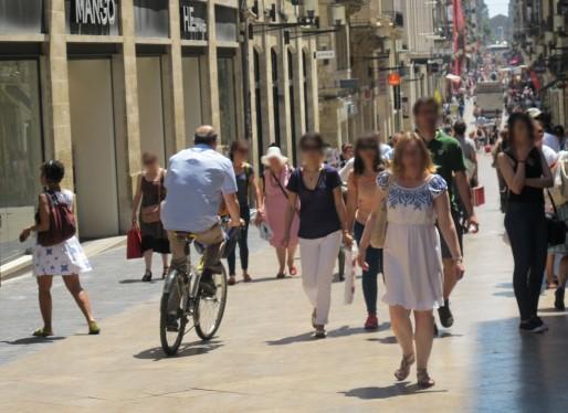 Dévaler Sainte-Catherine dans la foule (SB/Rue89 Bordeaux)