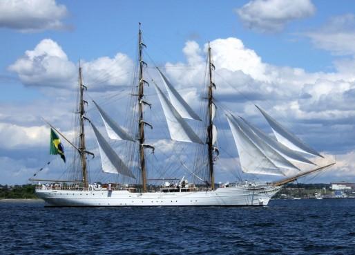 Le trois mâts brésilien, Cisne Branco, sera au port de la lune du 13 au 18 août (Bruce Bodner)