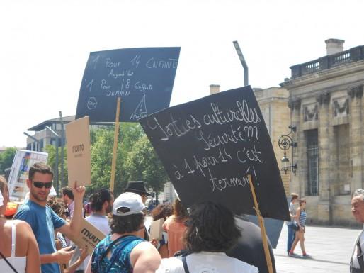 La sécurité en question sur les pancartes. (ML/Rue89 Bordeaux)