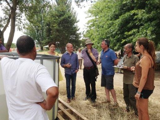 Jean-Luc Gleyze et des élus socialistes se sont rendus sur le camp des réfugiés Sahraouis (DR)