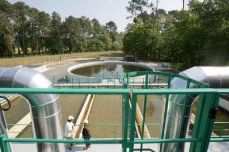Usine de captage d'eau potable de Gamarde (DR)