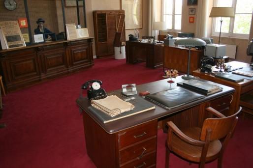 Salle 3 : reconstitution d'un centre de paiement (Photo du musée)