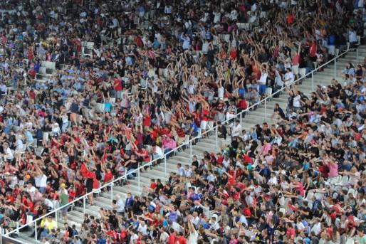 La tribune sud du Nouveau stade de Bordeaux (WS/Rue89 Bordeaux)