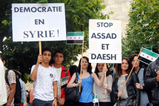 Les militants de Syrie Démocratie 33 (WS/Rue89 Bordeaux)